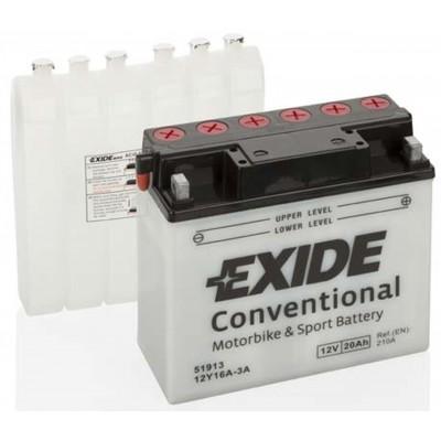 Akumulator Exide 12Y16A-3A 20Ah D+ 210A(EN) 170x80x185 Akumulatorji Exide 45.99