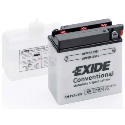 Akumulator Exide 6N11A-1B 6V 11Ah 95A(EN) 122x61x131 Akumulatorji Exide 20.00