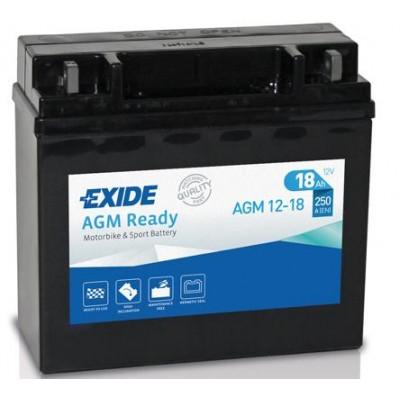 Akumulator Exide AGM12-18 18Ah D+ 250A(EN) 181x77x167 Akumulatorji Exide 91.40