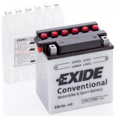 Akumulator Exide EB10L-A2 D+ 11Ah 130A(EN) 135x90x145 YB10L-A2 Akumulatorji Exide 37.48