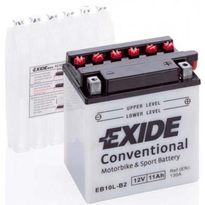 Akumulator Exide EB10L-B2 D+ 11Ah 160A(EN) 135x90x145 YB10L-B2 Akumulatorji Exide 38.40