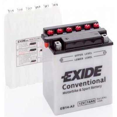 Akumulator Exide EB14-A2 L+ 14Ah 145A(EN) 135x90x165 YB14-A2 Akumulatorji Exide 39.00
