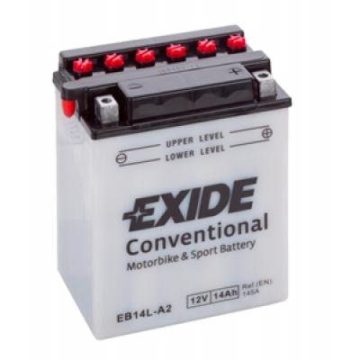 Akumulator Exide EB14L-A2 D+ 14Ah 145A(EN) 134x89x166 YB14L-A2 Akumulatorji Exide 34.12