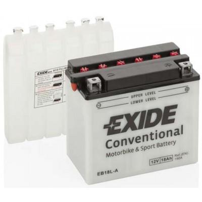 Akumulator Exide EB18L-A D+ 18Ah 190A(EN) 180x90x162 YB18L-A Akumulatorji Exide 68.15