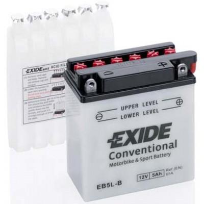 Akumulator Exide EB5L-B D+ 5Ah 65A(EN) 120x60x130 YB5L-B Akumulatorji Exide 17.44