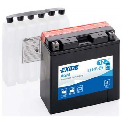 Akumulator Exide ET14B-BS L+ 12Ah 190A(EN) 150x70x145 YT14B-BS Akumulatorji Exide 55.20