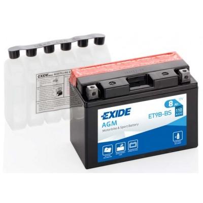 Akumulator Exide ET9B-BS L+ 8Ah 115A(EN) 150x70x105 YT9B-BS Akumulatorji Exide 36.30