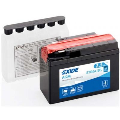 Akumulator Exide ETR4A-BS L+ 2,3Ah 30A(EN) 113x48x85 YTR4A-BS Akumulatorji Exide 33.00