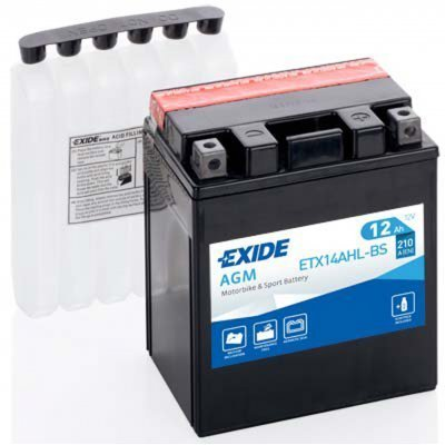 Akumulator Exide ETX14AHL-BS D+ 12Ah 210A(EN) 134x89x164 YTX14AHL-BS Akumulatorji Exide 55.65