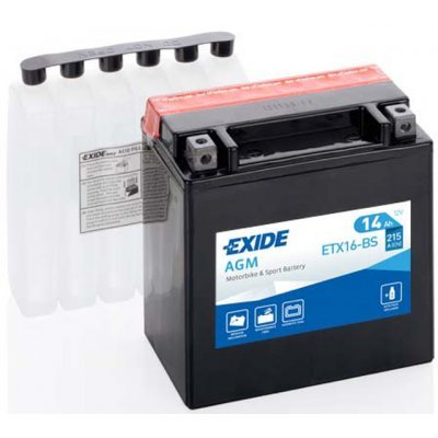Akumulator Exide ETX16-BS L+ 14Ah 215A(EN) 150x87x161 YTX16-BS Akumulatorji Exide 62.34