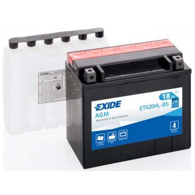 Akumulator Exide ETX20HL-BS D+ 18Ah 270A(EN) 175x87x155 YTX20HL-BS Akumulatorji Exide 55.20