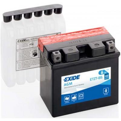 Akumulator Exide ETZ7-BS D+ 6Ah 100A(EN) 113x70x105 YTZ7-BS Akumulatorji Exide 24.90
