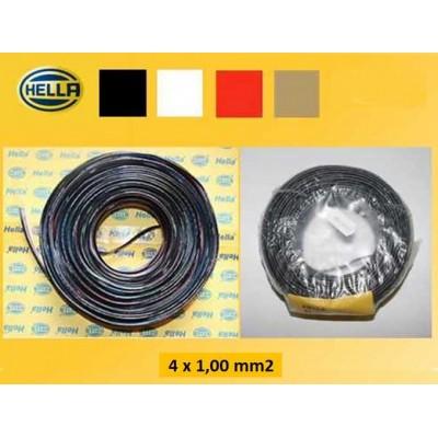 Kabel 4x1.0mm² za prikolico Hella 4 žilni Elektro material Hella 1.90
