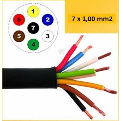Kabel 7x1.0mm² za prikolico Hella 7 žilni Elektro material Hella 2.55