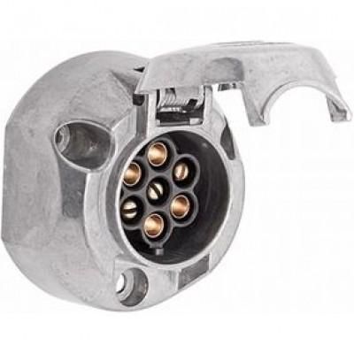 Vtičnica za prikolico 7 polna kovinska Elektro material Hella 4.50